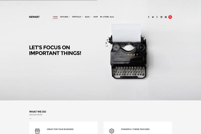 NewArt - Stylish Art & Portfolio Theme Kopie