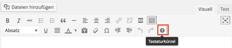Tastaturkürzel in WordPress