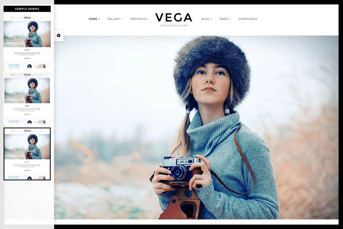 Vega Portfolio Gallery Theme for Photographer