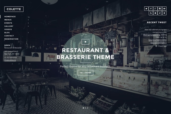 Colette - Restaurant & Brasserie WordPress Theme