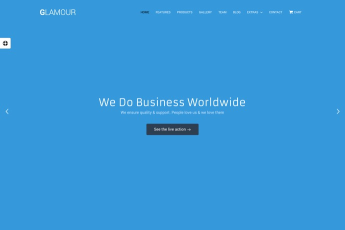 Glamour Responsive Parallax WP Business Template