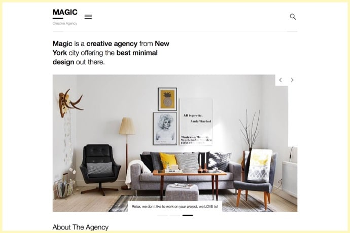 Magic - A Creative Portfolio & Ecommerce WordPress Theme