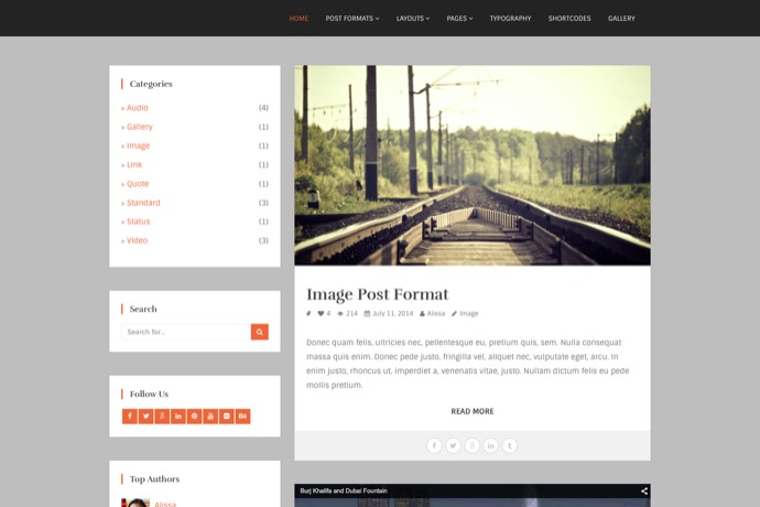 Pagino   Ultimate Multi Layout Blogging WP Theme