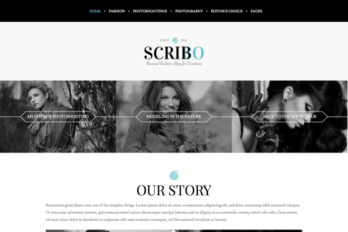 Scribbo - Minimal Elegant Fashion WordPress Blog