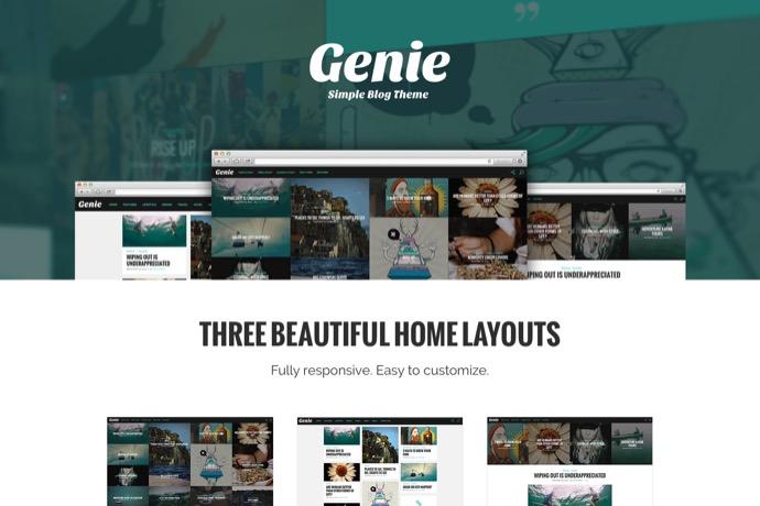 Genie-Personal Blog Theme
