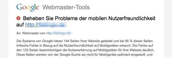 google moechte mobile websites sehen