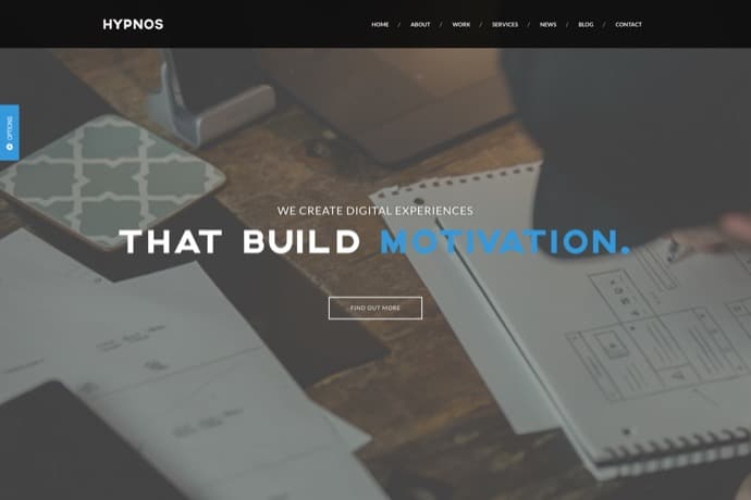 Hypnos - One Page Parallax WordPress Theme