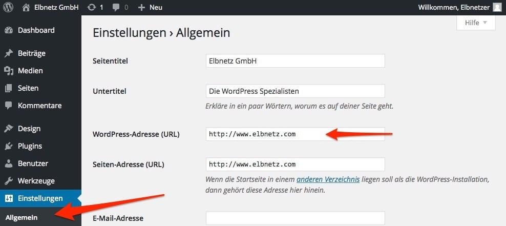 Seiten-Adresse (URL) in WordPress einstellen