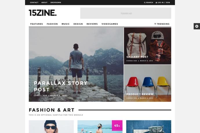 15Zine - HD Magazine - Newspaper WordPress Theme