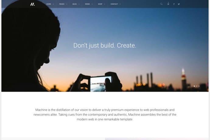 Machine - Responsive Multi-Purpose WordPress Theme