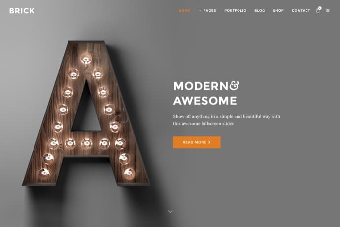 Brick - A Contemporary Multi-Purpose Theme