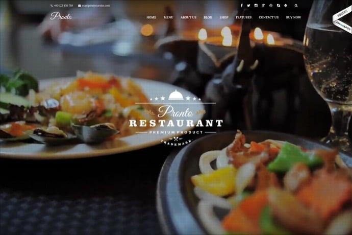Pronto - Restaurant & Event WordPress Theme