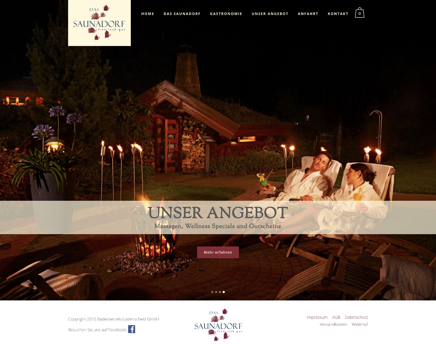 Website Saunadorf in Lüdenscheid