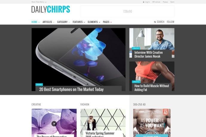 Chirps - Magazine Theme