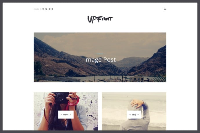 UPFront - Light Magazine - Blog WordPress Theme