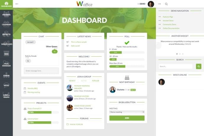 Woffice - Intranet-Extranet WordPress Theme