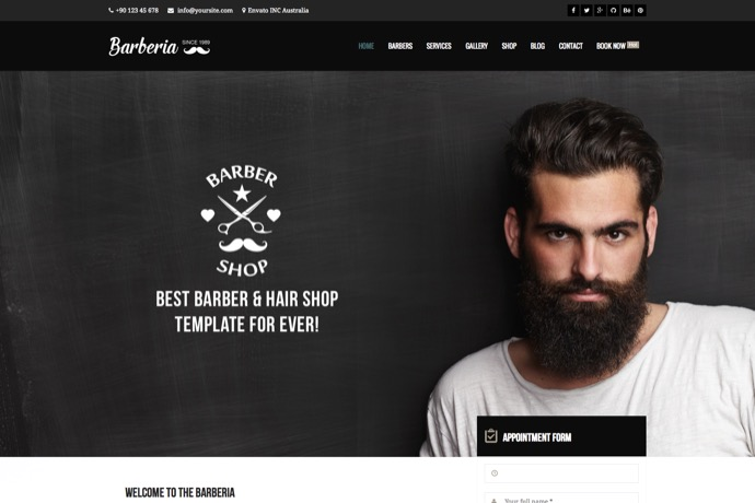 Barberia - Barber & Hair Salon WordPress Theme