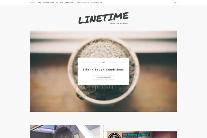 LineTime | Modern Timeline WordPress Blog Theme