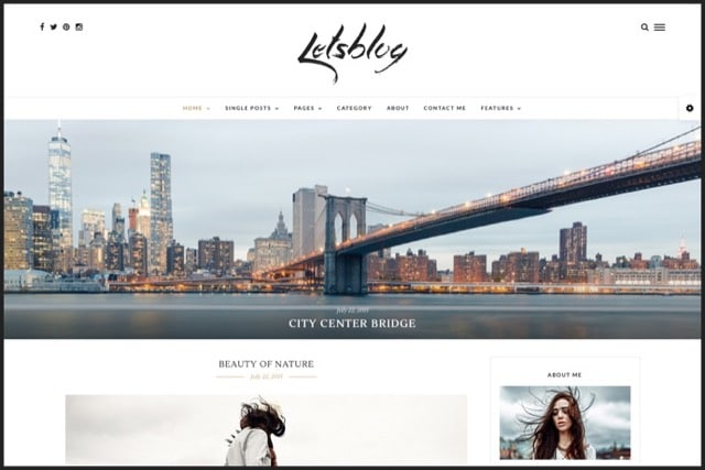 Lets Blog - Responsive Blog WordPress Theme