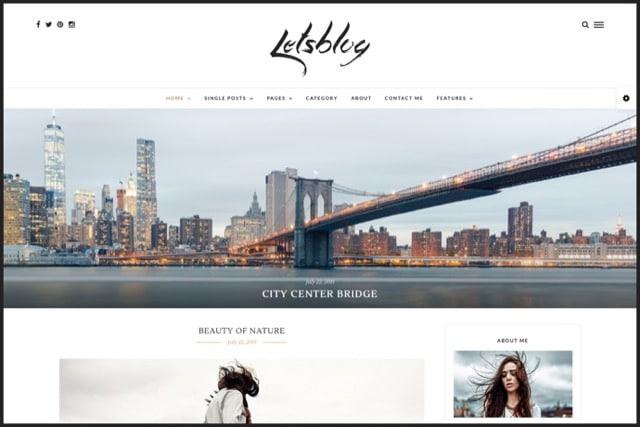 Lets Blog - Responsive Blog WordPress Theme