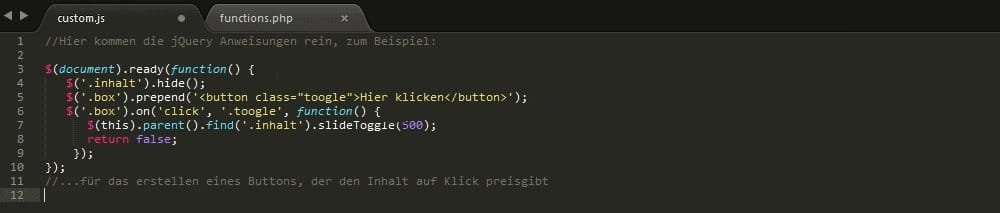 In der Custom_js
