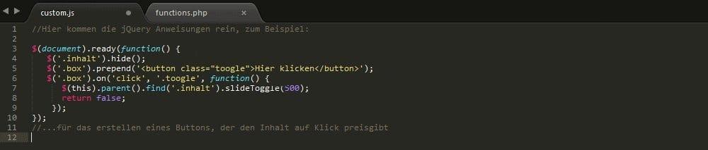 In der Custom_js