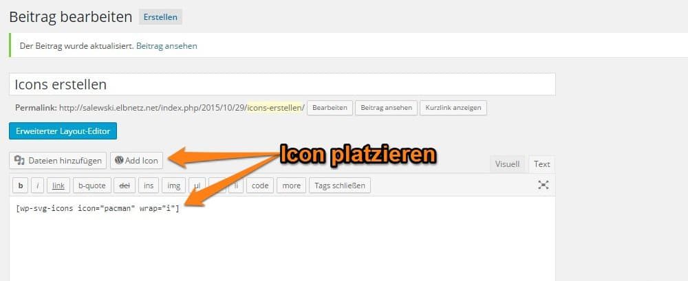 Plugin Shortcode und Button