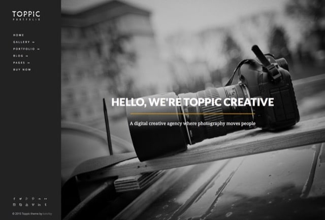 TopPic - Photography Portfolio WordPress Theme