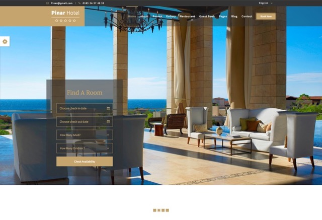 Pinar Hotel - WordPress Booking Template