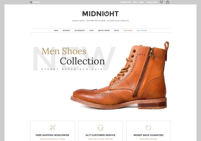 MidNight - Fashion WooCommerce WordPress Theme