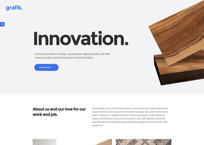 Grafik - Portfolio, Design & Architecture Theme