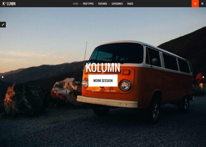 Kolumn - A Contemporary Theme for Bloggers