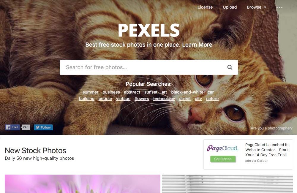 pexels Startseite