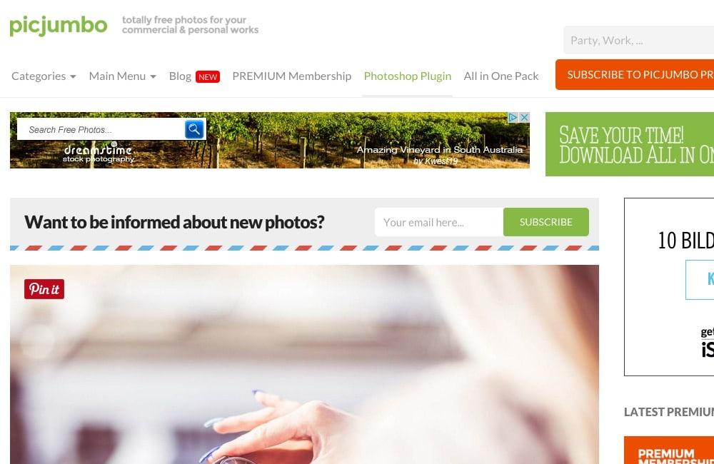 picjumbo Startseite