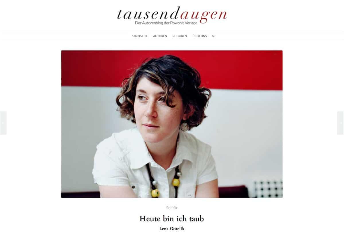 tausendaugen – Der Autorenblog der Rowohlt Verlage