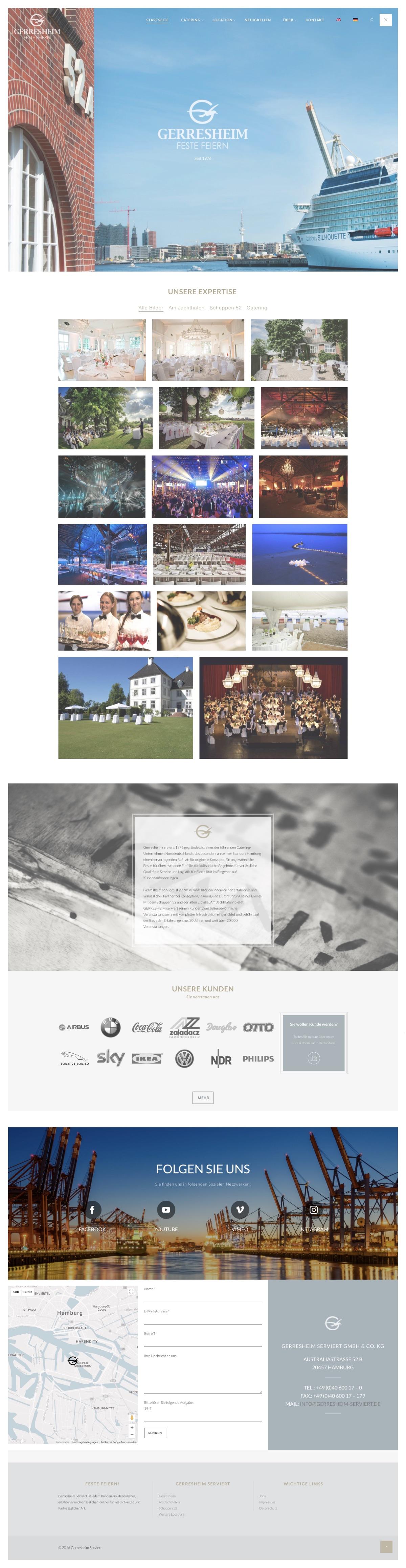 Website Gerresheim serviert