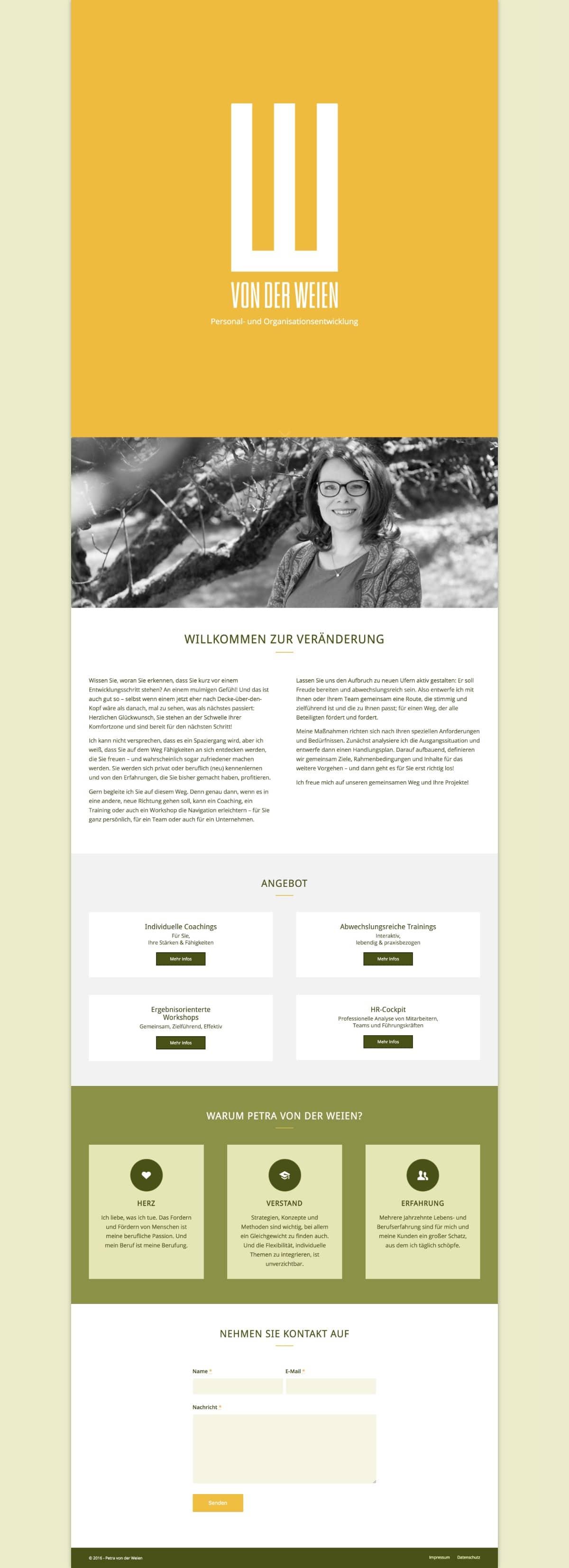Website Petra von der Weien