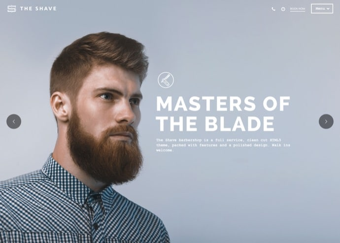 The Shave - BarberShop - Clean Cut WordPress Theme