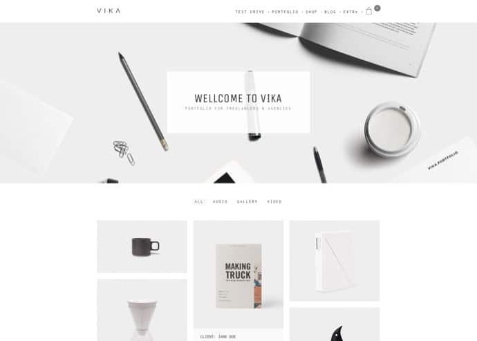Vika - Portfolio for Freelancers & Agencies