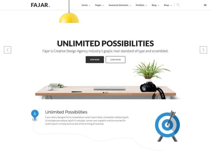 Fajar - Creative Multiuse WordPress Theme