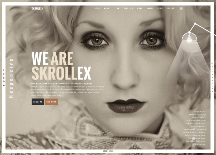 Skrollex - Creative One Page Parallax