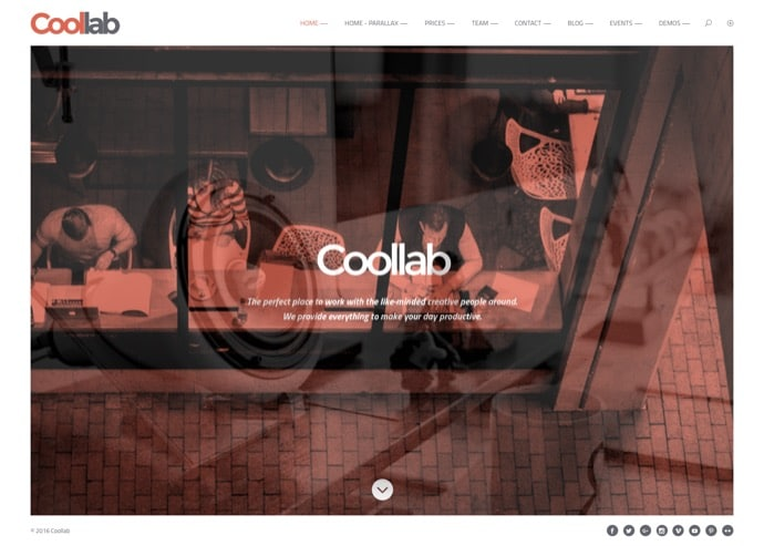 Coollab - Modern WordPress Theme for Local Business