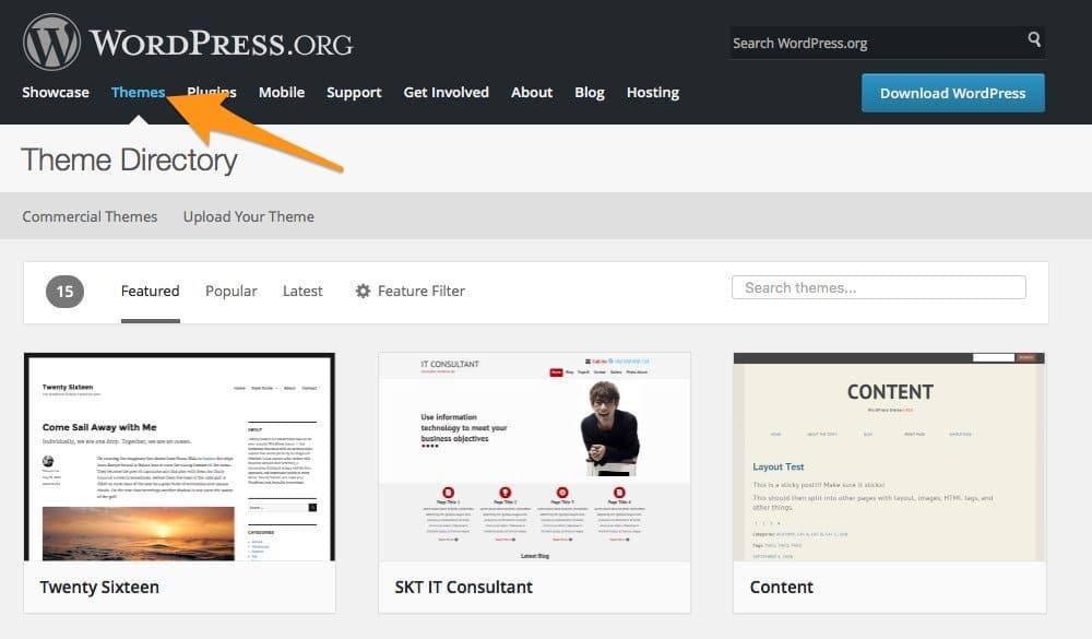 Ein Theme ueber WordPress.org installieren