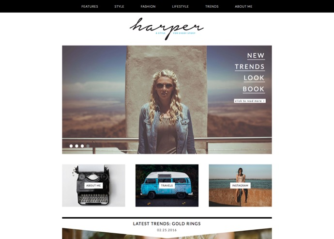 Harper - A Feminine Blog Theme for WordPress