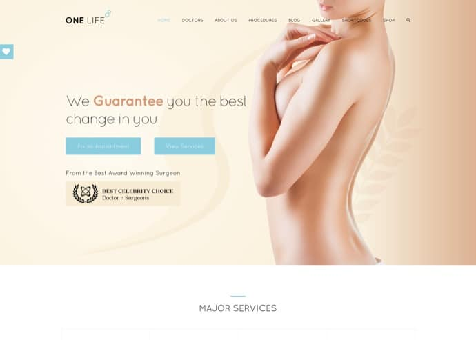 OneLife Medical - Medical, Health WordPressTheme
