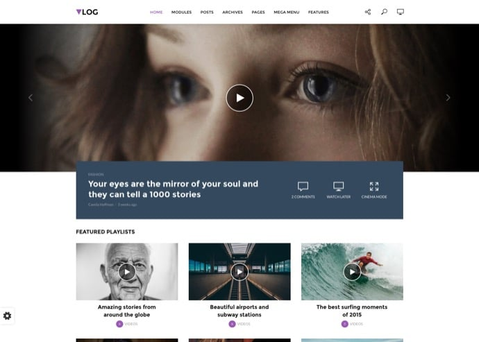 Vlog - Video Blog - Magazine WordPress Theme