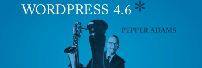 WordPress 4.6 Pepper Adems