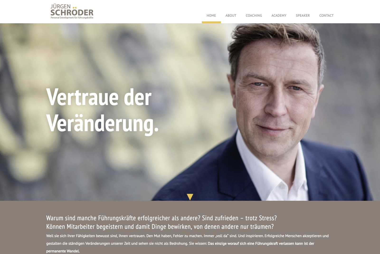 Jürgen Schröder – Personal Development für Führungskräfte