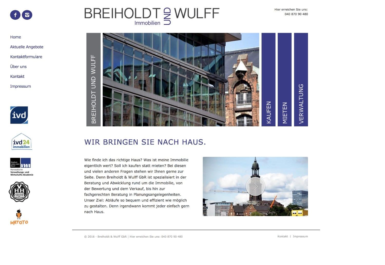 Website Breiholdt und Wulff