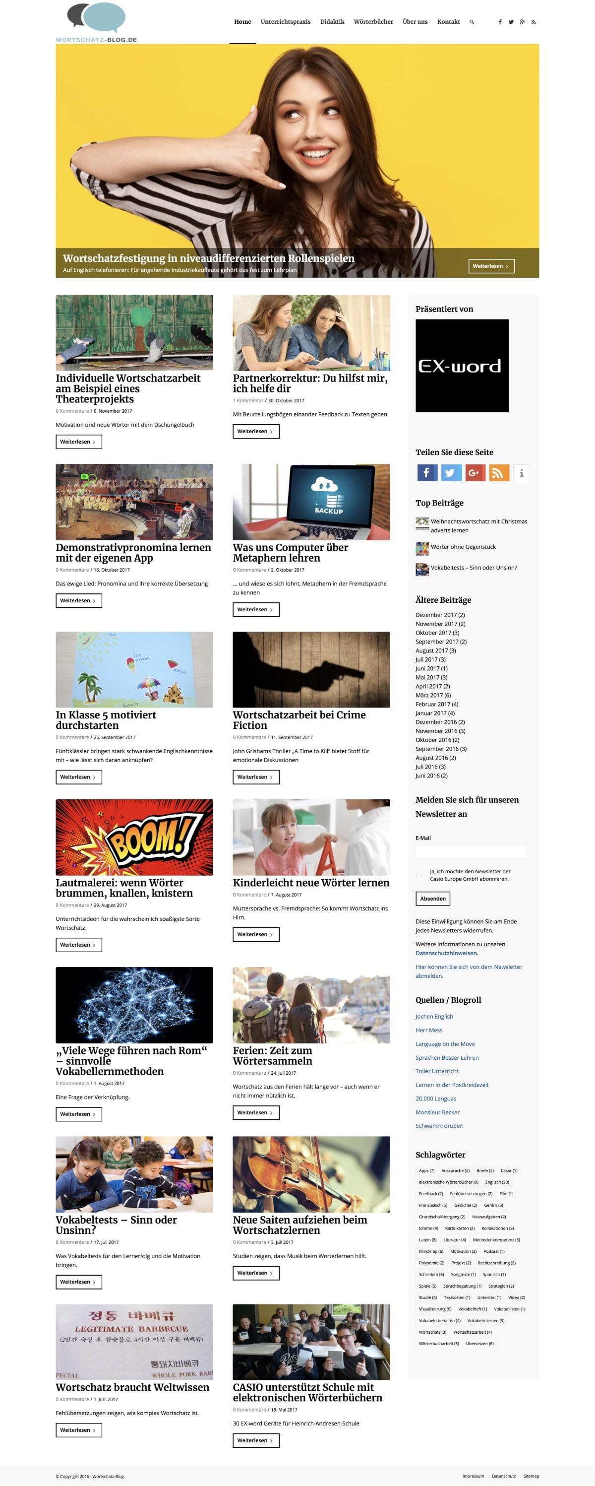 Casio Wortschatz Blog